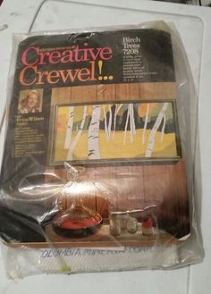 Creative Crewel Birch Trees, Erica Wilson design Has a tear in the front and is opened but seems complete and is in perfect shape. Dated Makes a pretty large 21 x picture. Embroidery Kits, Cross Stitch Embroidery, Birch Trees, Needlepoint Kits, Shapes, Creative, Pretty, How To Make, Crafts