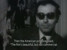 Still from an interview with Jean-Luc Godard after the release of Contempt. Cinema Quotes, Movie Quotes, Book Quotes, Life Quotes, Francoise Hardy, Jean Luc Godard, The New Wave, Quote Aesthetic, Film Stills