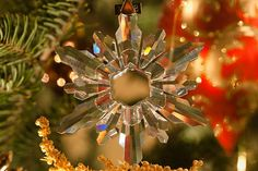 Crystal christmas tree decorations baubles ornaments