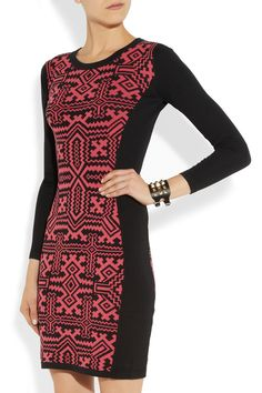 ALICE by Temperley | Miya jacquard-knit cotton dress | I would wear as a sheath with long skirt