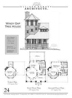 The Windy Gap Tree House in South Port St. - House Plans, Home Plan Designs, Floor Plans and Blueprints Sims House Plans, Small House Plans, House Floor Plans, Tiny Cabin Plans, Cottage Floor Plans, The Plan, How To Plan, Sims Building, Building A House