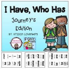 "FREE Journey's Kindergarten Sight Word ""I Have, Who Has' Sight Word Game"