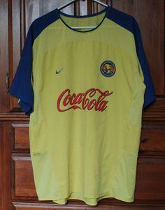 Nike Club America Soccer Football Jersey Yellow Mens XXL Mexico Corona Sponsor #Nike #ClubAmerica #Soccer #Futbol #Football #Jersey #Mens #Mexico