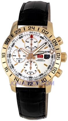 Chopard Mille Miglia Mens Rose Gold GMT Chronograph Watch 161267-5001