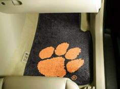 NCAA - Car Mats 2 Piece Front - Clemson University.  Buy it @ ReadyGolf.com