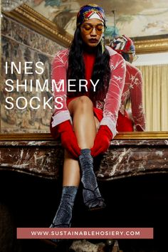 Shimmer in our Ines socks, both sustainable and beautiful, let them make your day brighter! Here are the reasons why you'll love Ines: - 40 denier shimmery socks - Semi sheer - Soft cuff - 100% emission free tights - Made from recycled yarn Ines is knitted in our zero-waste, emission free facility in Italy. #swedishstockings #SparklySocks #SparklyAesthetic #ethicalfashionaustralia #styleinspirationaustralia Ethical Fashion, Trendy Fashion, Sparkly Socks, Maternity Tights, Recycled Yarn, Patterned Tights, Fashion Tights, Cute Socks, Zero Waste