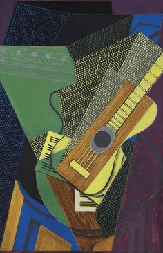 JUAN GRIS (1887-1927) GUITARE SUR UNE TABLE