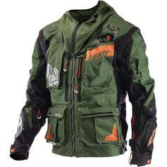 Leatt GPX Enduro Jacke - Jackets care all - Trend Frauen Fahrrad Motorcycle Style, Motorcycle Outfit, Motorcycle Jacket, Tactical Wear, Tactical Clothing, Moto Enduro, Motorbike Jackets, Biker Gear, Dual Sport