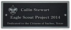 Honor your Eagle Scout project with a durable custom plaque