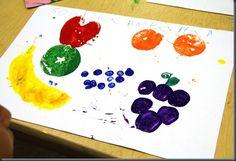 fruit print color exploration
