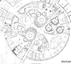of Eskisehir Hotel and Spa / GAD Architecture - 25 Seems like something I'd draw, SO MANY Circles. Eskisehir Hotel and Spa / GAD ArchitectureSeems like something I'd draw, SO MANY Circles. Eskisehir Hotel and Spa / GAD Architecture Salon Interior Design, Interior Design Photos, Salon Design, Plan Hotel, Hotel Floor Plan, Hotel Architecture, Architecture Design, Architecture Graphics, Logo Spa