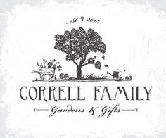 logo for a family owned garden center correll family vintagelogo gardenlogo retro