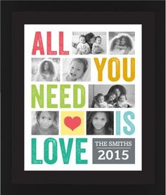 All You Need Is Love Framed Print, Black, Contemporary, Black, Black, Single piece, 16 x 20 inches