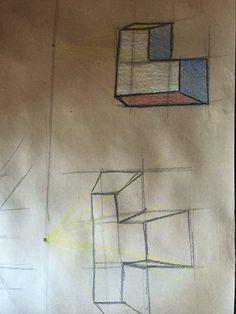 1 punto de fuga e isometrico