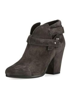 X38H5 Rag & Bone Harrow Suede Ankle Boot, Asphalt