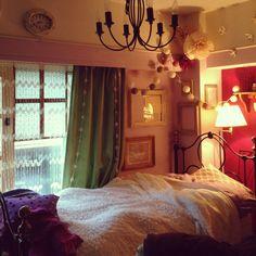 anzuchuanzuさんの、キャトルセゾン,salut!,ローラアシュレイ,DIY,カメラマーク出現につき,Bedroom,のお部屋写真