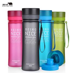 NEW 700ML Portable Water Bottle Sport Bike Cycling Bouteilles d'Eau  Water With Rope  bottle  Unbreakable Plastic Tumbler