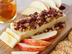 Cheddar with Honey, Walnuts & Dried Cherries.