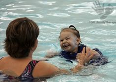 Aquatic therapy can help to improve strength, balance, and coordination while providing sensory input. A child with hypotonia would benefit from participating in aquatic therapy in a pool that is slightly below body temperature. Adapted Physical Education, Aquatic Therapy, Recreational Therapy, Pediatric Occupational Therapy, Body Exercises, Disability Awareness, Sensory Processing Disorder, Cerebral Palsy, Special Needs Kids