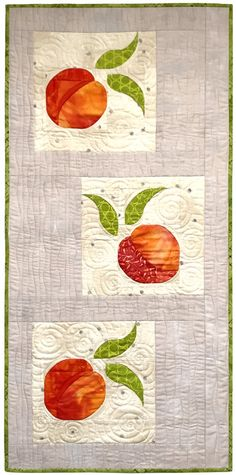 Just Peachy :: Another peeled-back patchwork pattern with easy dimensional curves! #southwinddesigns