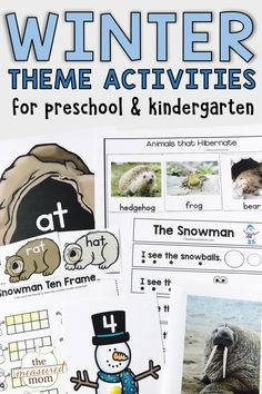 Check out these creative activities and printables for a winter theme in preschool and kindergarten! You'll find emergent readers, art and craft ideas, book lists, literacy ideas, learning centers, and more!