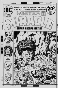 Mister Miracle #16 Cover (1973) Comic Art For Sale By Artist Jack Kirby at Romitaman.com