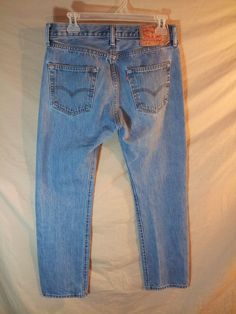 Men's Levi Strauss 501 Blue Jeans Button Fly Copper Rivet 5 Pocket Classic 30x30 #Levis #ClassicStraightLeg