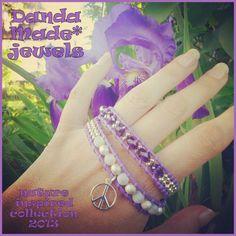 Agate, crystal & leather wrap bracelet https://www.facebook.com/DandaMade