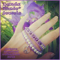 Agate, crystal & leather wrap bracelet https://www.facebook.com/DandaMade