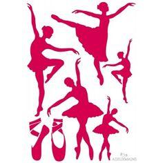Pochoir Danse (A4) - www.adeuxmains.fr