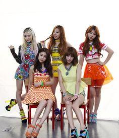 2013 // Ladies' Code - bad girl, super girl, dada la, pretty pretty, hate you