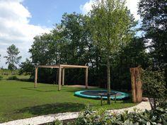 Speelelement; Ingegraven trampoline