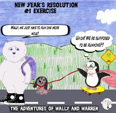 Once again, Wally and Warren are trying to start their New Year off with great resolve!! #wallyandwarren #children #read
