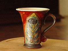 Red Pottery Coffee or Tea Mug, Ceramics and Pottery, Wheel Thrown Mug * Find out more details by clicking the image : Handmade Gifts