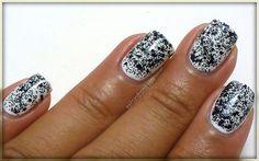 black glitter.. weird but cool!