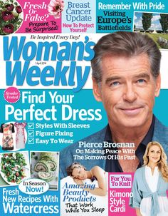WOMAN'S WEEKLY - April 1, 2014 : Fresh Or Fake? Prepare To Be Surprised!,Breast CancerUpdate ® How To Protect Yourself, Remember With Pride Visiting Europe's Battlefields,Find Your Perfect Dress,Pierce Brosnan On Making Peace With The Sorrows Of His Past,Amazing Beauty Products That Work While You Sleep,Fresh New Recipes With Watercress.