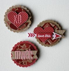 Valentine clusters/magnets - Jillibean Soup