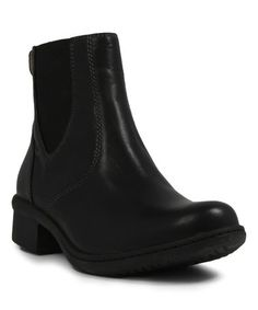 Look what I found on #zulily! Black Kristina Waterproof Leather Chelsea Boot - Women #zulilyfinds