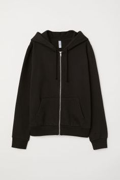 Jacket in sweatshirt fabric with a lined drawstring hood, zip down the front, side pockets and ribbing at the cuffs and hem. Basic Outfits, Cute Casual Outfits, Outfits For Teens, Hoodie Sweatshirts, Hoodies, Hooded Sweater, Hooded Jacket, Cute Jackets, Black Zip Ups