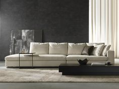 Sectional fabric sofa with removable cover PARK 1 | Sectional sofa - Giulio Marelli