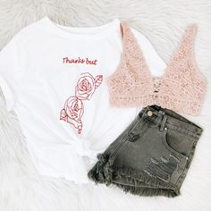 20% off entire site! ✨ No code needed! Pictured: Thanks but no thanks Tee, Malibu Shorts, Nicole Bralette Frankie-Phoenix.com