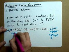 Balance a Redox Reaction (BASIC solution)--using oxidation state method (I prefer half-cell method)