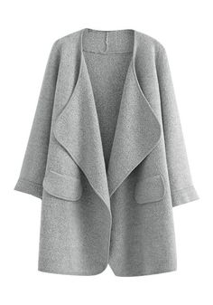 Taking inspiration from our oh-so-comfy loungewear, we've designed this grey open front draped cardigan to be just that, comfortable, with a dose of elegance. #lookbookstore #FashionClothing