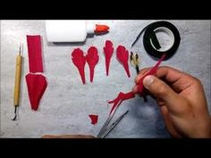 How to make a beautiful and amazing double tulip (hybird tulip) flower with crepe paper. - YouTube