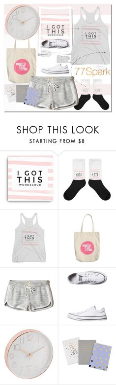 """""""Без названия #2965"""" by ilona-828 ❤ liked on Polyvore featuring Hollister Co., Converse, polyvoreeditorial and 77spark"""