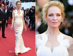 Uma Thurman In Marchesa - 'A Fistful of Dollars' Cannes Film Festival Screening & Closing Ceremony - Red Carpet Fashion Awards