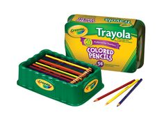 Crayola Full Size Non-Toxic Colored Pencil Set in Trayola, 3.3 mm Thick Tip, Assorted Color, Set of 54 #mycdwishlist