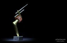 the idea of wireless energy transmission tesla / sculpture / 9 x 3 x 15 cm Tesla S, Sculpture Art, Contemporary Art, Sculptures, Contemporary Artwork, Modern Art