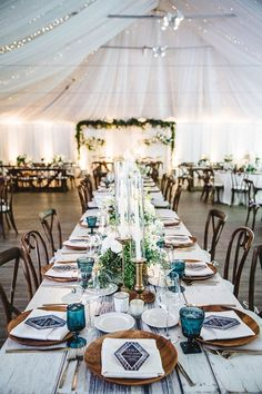 Lovely blooms, lush greenery, and gorgeous hues star in these enchanting settings.