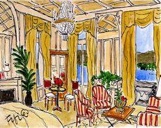Fifi Flowers Painting du Jour Gallery: Hotel in Luzern Switzerland